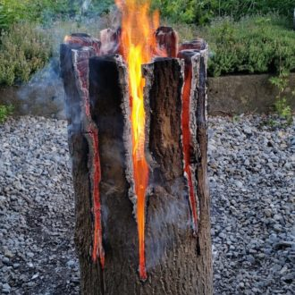 Log On Firewood Outdoor Candle